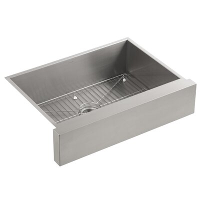 Kohler Stainless Steel Kitchen Sinks kohler vault under-mount single-bowl kitchen sink, stainless steel
