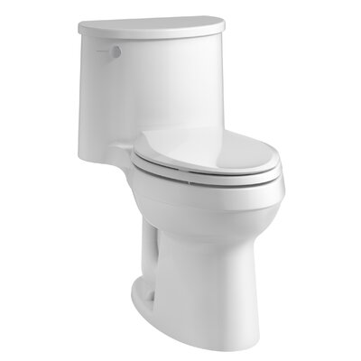 kohler adair comfort height onepiece elongated 128 gpf toilet with aquapiston flushing technology and lefthand trip lever u0026 reviews wayfairca