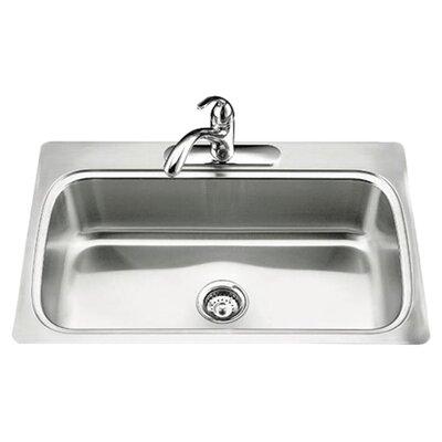kohler verse 33 x 22 x 8 14 top mount single bowl kitchen sink with single faucet hole reviews wayfair. beautiful ideas. Home Design Ideas