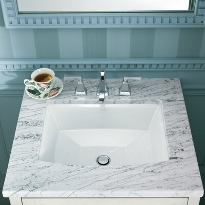 Kohler Archer Ceramic Rectangular Undermount Bathroom Sink with