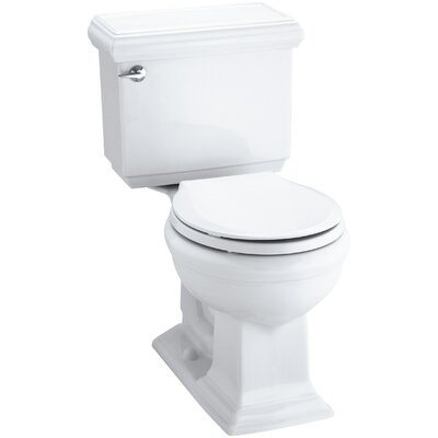 Kohler Memoirs Classic Comfort Height Two Piece Round Front 1.28 GPF Toilet  With Aquapiston Flush Technology And Left Hand Trip Lever U0026 Reviews |  Wayfair