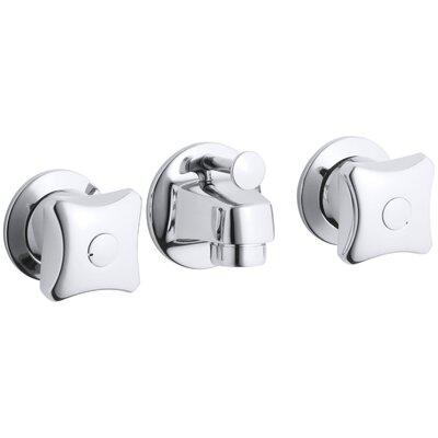 Commercial Bathroom Faucets kohler triton shelf-back commercial bathroom sink faucet with pop