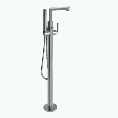 Moen Arris Single Handle Floor Mount Tub Filler Trim With Hand Shower U0026  Reviews | Wayfair