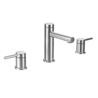 moen align double handle widespread bathroom faucet with drain