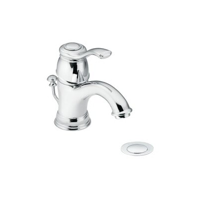 Moen Kingsley Single hole Bathroom Faucet with Drain Assembly ...