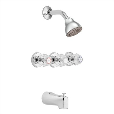 moen chateau shower and tub faucet trim with knob handle wayfair