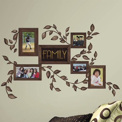 Picture Frame Wall Decals room mates deco 50 piece family frames wall decal & reviews | wayfair