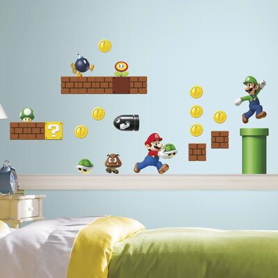 Beautiful Room Mates Nintendo 45 Piece Super Mario Wall Decal U0026 Reviews | Wayfair Part 21