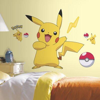 Room Mates Pokemon Pikachu Wall Decal U0026 Reviews | Wayfair Part 4