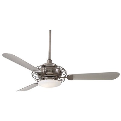 "Minka Aire 52"" Acero Retro 3 Blade LED Ceiling Fan & Reviews"