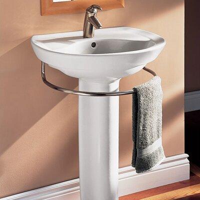 American Standard Ravenna 24 5 Pedestal Bathroom Sink With Overflow Reviews Wayfair