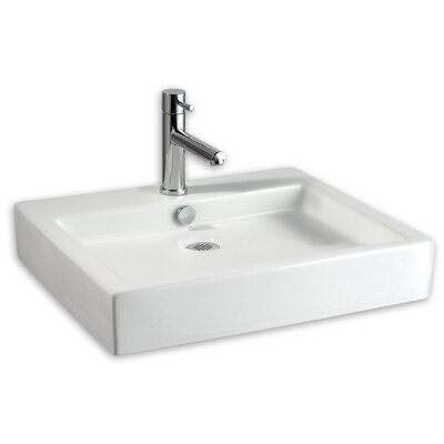 American Standard Studio Rectangular Vessel Bathroom Sink With Overflow Reviews Wayfair