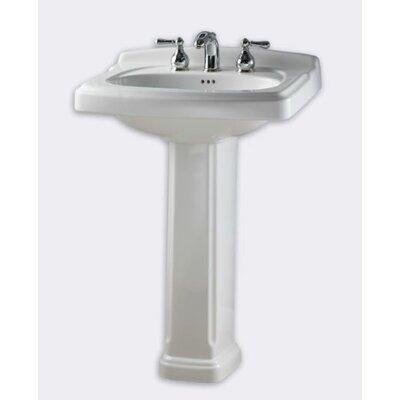 American Standard Portsmouth 24 38 Pedestal Bathroom Sink With Overflow Reviews Wayfair