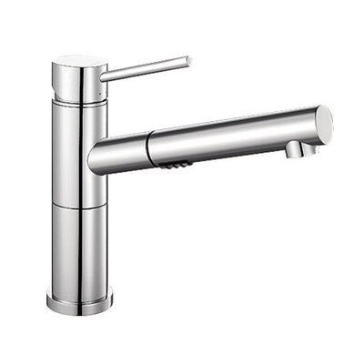 blanco alta single handle deck mounted standard kitchen faucet with dual pull out spray u0026 reviews wayfair - Blanco Faucets