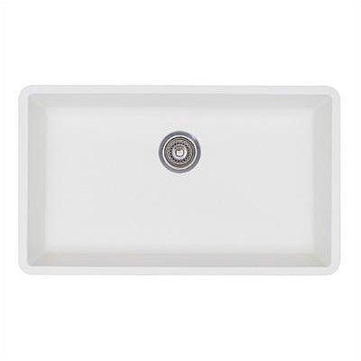 """White Single Bowl Kitchen Sink blanco precis 32"""" x 19"""" super single bowl kitchen sink & reviews"""