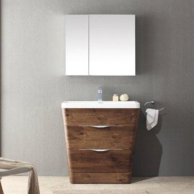 Fresca Milano 31 5 Single Sink Modern Bathroom Vanity Set Reviews Wayfair