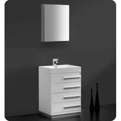 fresca senza 24 single livello modern bathroom vanity set