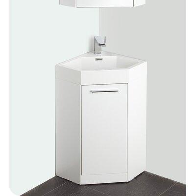 "Bathroom Vanities Wayfair fresca lucida 18"" single coda modern corner bathroom vanity set"