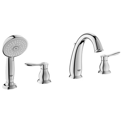 Roman Tub Spout With Diverter. Grohe Parkfield Deck Mounted Roman Tub Faucet with Handshower  Reviews Wayfair