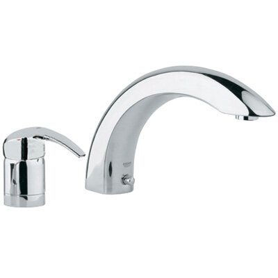 grohe eurosmart single handle deck mount roman tub faucet u0026 reviews wayfair