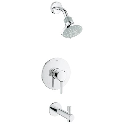 grohe concetto pressure balance bathroom combination u0026 reviews wayfair