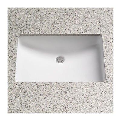 Toto Augusta Decorative Ceramic Rectangular Undermount Bathroom Sink