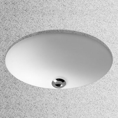Toto Vitreous China Oval Undermount Bathroom Sink With Overflow - Under counter bathroom sinks