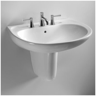 Toto Supreme 22 Wall Mount Bathroom Sink With Overflow Reviews Wayfair