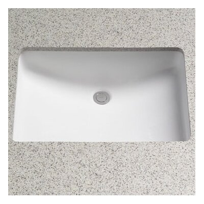 toto rimless rectangular undermount bathroom sink with overflow u0026 reviews wayfairca