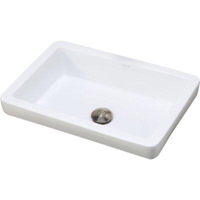 Decolav Classically Redefined Semi Rectangular Vessel Bathroom Sink Reviews Wayfair