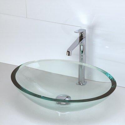 Bathroom Sinks Oval decolav translucence glass oval vessel bathroom sink & reviews