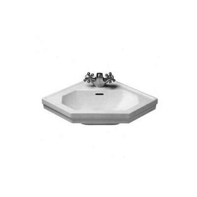 1930 Series 24 Corner Bathroom Sink With Overflow