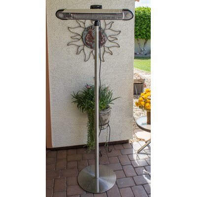 az patio heaters free standing watt electric patio heater wayfair - Az Patio Heaters