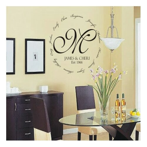 Alphabet Garden Designs chevron double color border wall decal by alphabet garden designs Alphabet Garden Designs Personalized Family Encircling Love Monogram Wall Decal