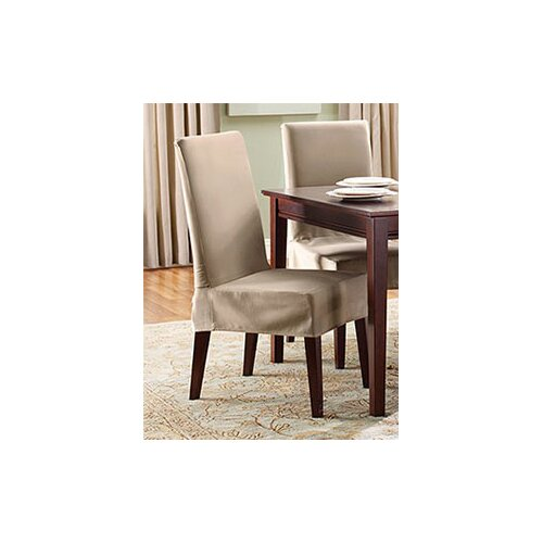 Sure Fit Cotton Duck Full Length Dining Room Chair: Sure Fit Cotton Duck Shorty Dining Chair Slipcover