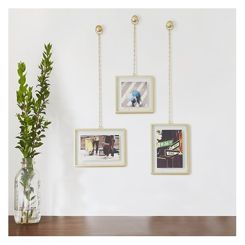 umbra 3 piece fotochain picture frame set