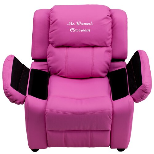 Flash Furniture Deluxe Contemporary Personalized Kids Recliner – Children Recliner Chairs