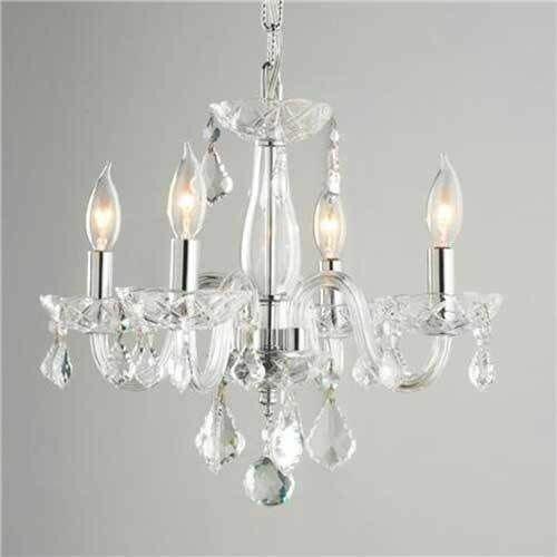 Worldwide Lighting Clarion 4Light Semi Flush Mount Reviews – Crystal Chandelier Lights