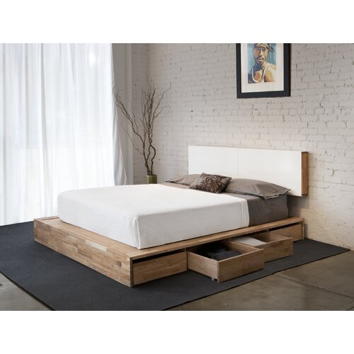 Lax series storage platform bed reviews allmodern for Mash studios lax platform bed