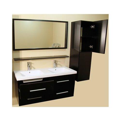 Kokols 48 Double Bathroom Vanity Set with Mirror Reviews – Bathroom Vanity and Cabinet Sets