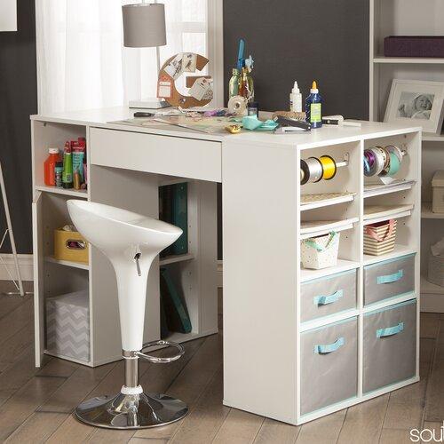 Counter Height Craft Table : South Shore Crea Counter Height Craft Table & Reviews Wayfair