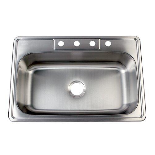 Kingston Brass Studio 22 X 33 Gourmetier Self Rimming Single Bowl Kitchen Sink Bowl Kitchen