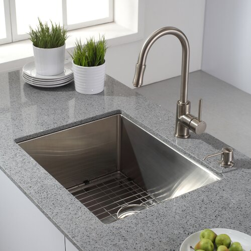 "Kraus 23"" X 18"" Undermount Kitchen Sink & Reviews 