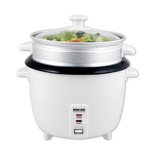 Rice Cooker with Food Steamer by Better Chef
