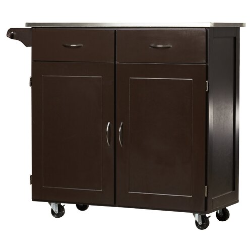 Red Barrel Studio Riffe Large Kitchen Cart With Stainless Steel Top Reviews Wayfair