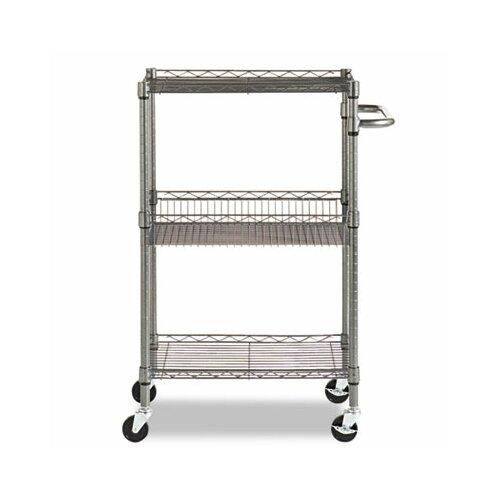 "Alera 36"" Wire Shelving 3 Tier Utility Cart & Reviews | Wayfair"