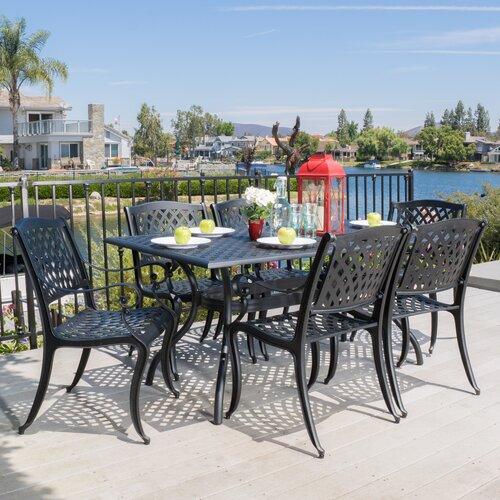 Alcott Hill® Castle Heights 7 Piece Outdoor Dining Set - Alcott Hill Castle Heights 7 Piece Outdoor Dining Set & Reviews
