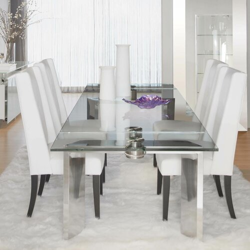 Lesly Extendable Dining Table Amp Reviews Allmodern