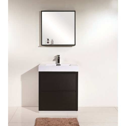 Wade Logan Tenafly 30 Single Free Standing Modern Bathroom Vanity Set Reviews