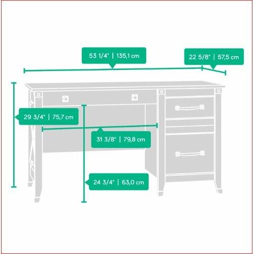 Loon Peak Newdale 3 Drawers Computer Desk Amp Reviews Wayfair